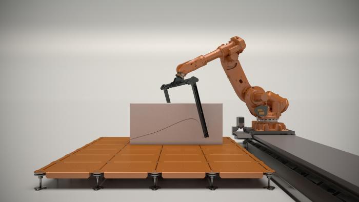 robot skærer med glødetråd, Odico