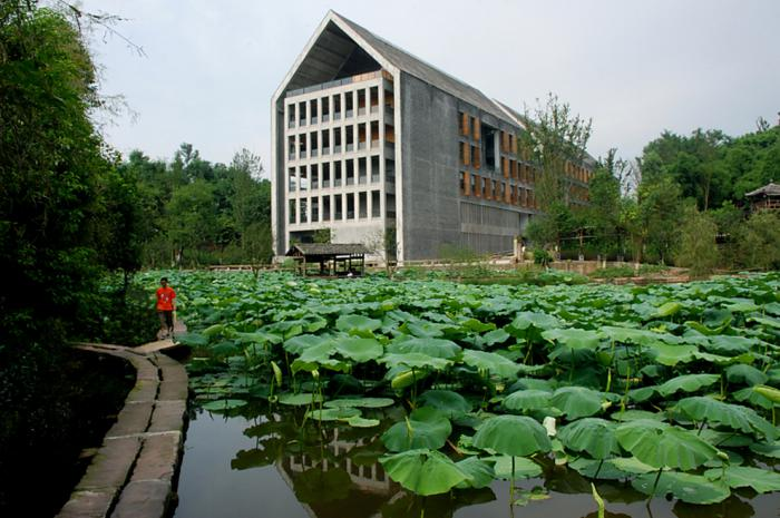 Long-term impact – 3: Sichuan Fine Arts Institute Library of Huxi Campus, Chongqing, China, 2009 – Project Design: Tanghua/Tanghua Architect & Associates  Studio-X Beijing, GSAPP, Columbia University, Beijing, China, 2009 Project Design: LI Hu, HUANG Wenjing/OPEN Architecture