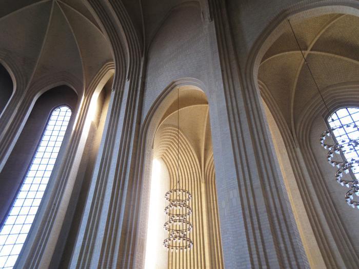 Hvælv i Grundtvigs Kirke.