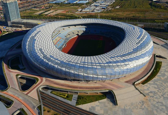 Stadium and the Gymnasium of Dalian Sports Center, Dalian, China, 2013  Project Design: FU Benchen, CHU Xiao, WEI Zhiping, LU Shiliang/The Architectural Design and Research Institute of HIT