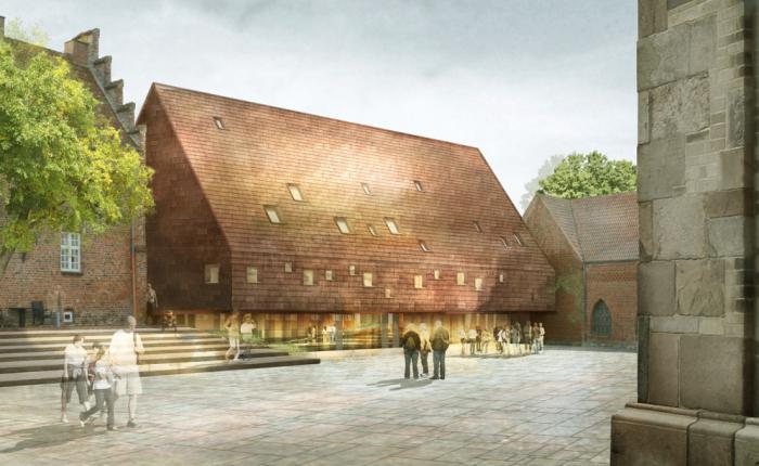 Lundgaard og Tranbergs visualisering af det færdige byggeri.