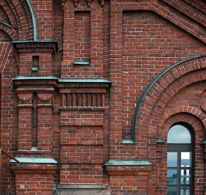Uspenski-katedralen i Helsinki, facadeudsnit